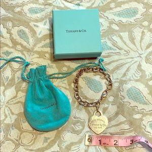 Tiffany & Co. Large Heart tag bracelet RARE